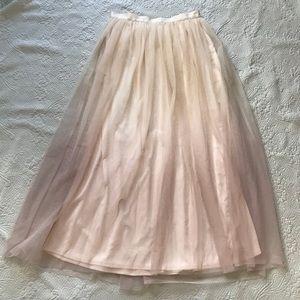 Lauren Conrad Runway Ombré Tulle Maxi Skirt 12